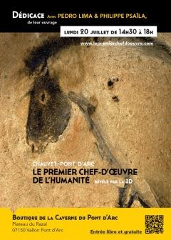 CAVERNE DU PONT D'ARC - Dédicace de Pedro Lima et