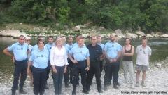 Les gendarmes contrôlent l'alcool sur les bivou