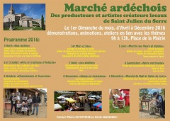 Marché ardéchois à Saint-Julien-du-Serre 2016