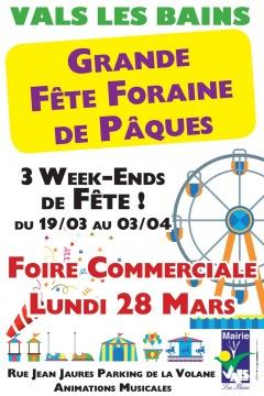 Week-end de Pâques à Vals-les-Bains les 26, 27 e