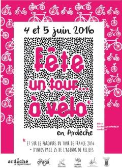 Fête un Tour… à vélo, les 3, 4 et 5 juin 2016