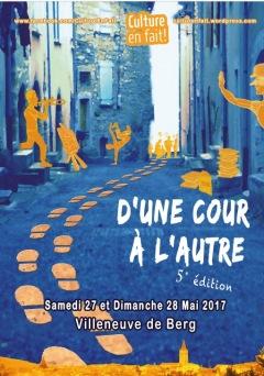 D'une cour à l'autre - Villeneuve-de-Berg 2017