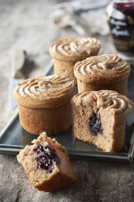RECETTE SABATON : Muffins aux marrons cœur myrtil