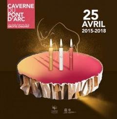 Caverne Pont d'Arc : 25 avril 2018 : 3 ans déjà