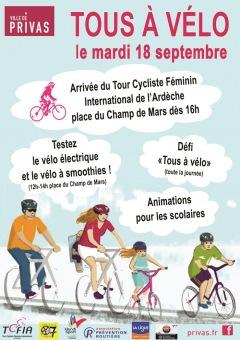 « Tous à vélo » à Privas le mardi 18 septembr