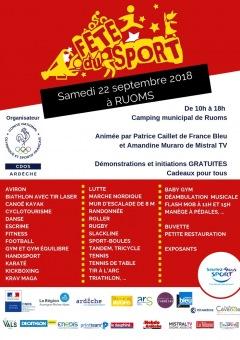 Fête du Sport à Ruoms 2018