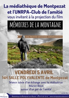 MEDIATHEQUE MONTPEZAT 2019 : Projection film ""