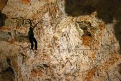 Grotte Aven d'Orgnac 2019 : Slackline souterraine