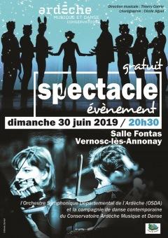 Spectacle événement : le Conservatoire Ardèche