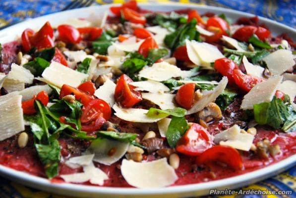 Ardeche recette fraicheur le carpaccio - Salade originale ete ...