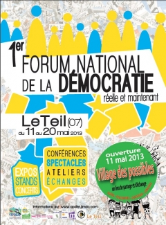 1er FORUM NATIONAL DE LA DÉMOCRATIE 2013 LE TEIL