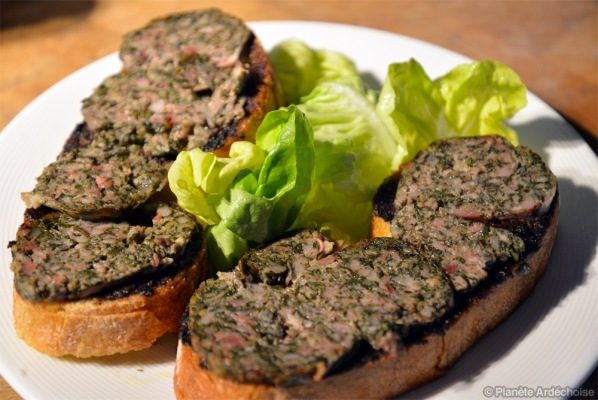TARTINES Caillette-Tapenade
