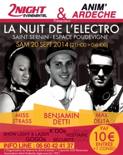 SOIRÉE ELECTRO ARDÈCHE 20.09.2014