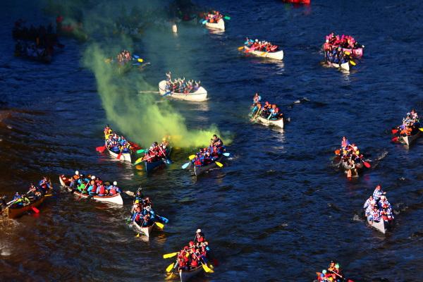 Gros bateaux marathon ardèche 2019