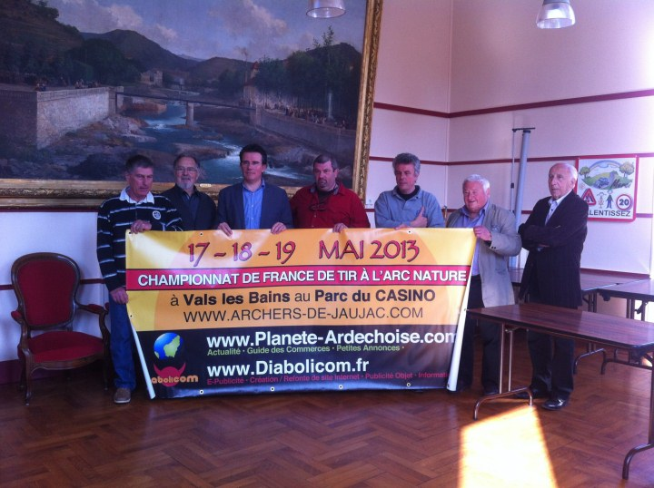 Visites Archers à la mairie Vals-les-Bains 2013.