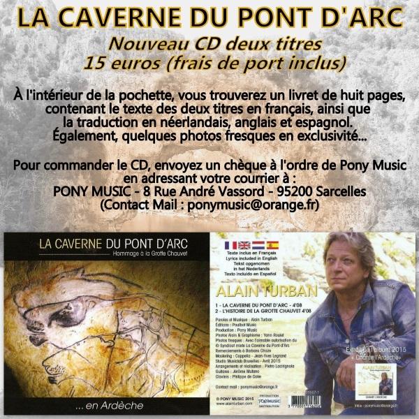 Alain Turban chante la Caverne du Pont D'Arc 2015