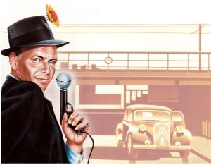 Dessin Roland Hours - Franck Sinatra